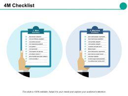 4m Checklist Ppt Slides Gridlines