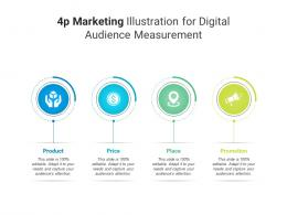 4p Marketing Illustration For Digital Audience Measurement Infographic Template
