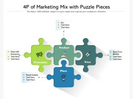 4p Of Marketing Mix With Puzzle Pieces