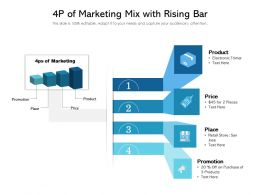 4p Of Marketing Mix With Rising Bar