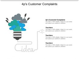 4ps Customer Complaints Ppt Powerpoint Presentation Gallery Skill Cpb