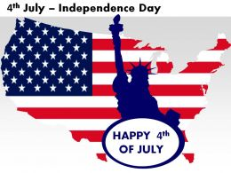 4th July Independence Day Powerpoint Presentation Slides