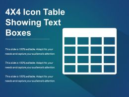 4x4 Icon Table Showing Text Boxes
