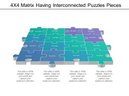 4x4 Matrix Having Interconnected Puzzles Pieces