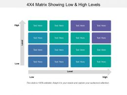 4x4 Matrix Showing Low And High Levels