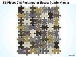 56_pieces_7x8_rectangular_jigsaw_puzzle_matrix_powerpoint_templates_0812_Slide01