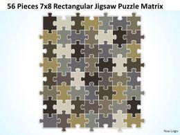 56 Pieces 7x8 Rectangular Jigsaw Puzzle Matrix Powerpoint templates 0812