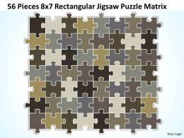 56 Pieces 8x7 Rectangular Jigsaw Puzzle Matrix Powerpoint templates 0812