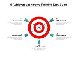 5 Achievement Arrows Pointing Dart Board