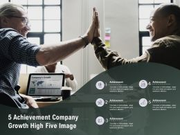 5 Achievement Company Growth High Five Image