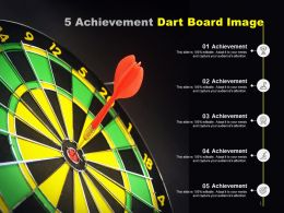 5 Achievement Dart Board Image