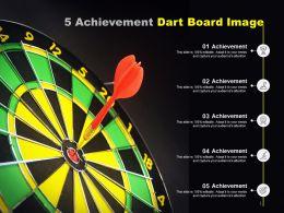 5 Achievement Dart Board Image
