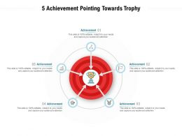 5 Achievement Pointing Towards Trophy