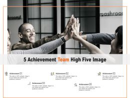 5 Achievement Team High Five Image