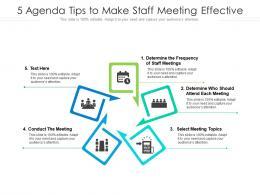 5 Agenda Tips To Make Staff Meeting Effective