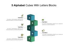 5 Alphabet Cubes With Letters Blocks