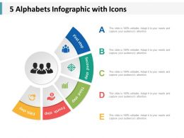 5 Alphabets Infographic With Icons