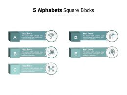5 Alphabets Square Blocks
