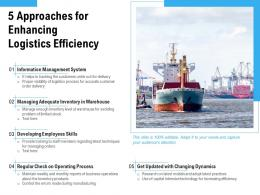 5 Approaches For Enhancing Logistics Efficiency