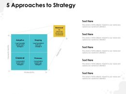 5 Approaches To Strategy Ppt Powerpoint Presentation Professional Template