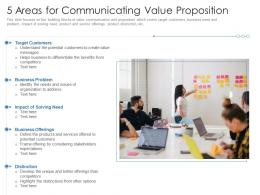 5 Areas For Communicating Value Proposition