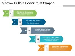 5 Arrow Bullets Powerpoint Shapes