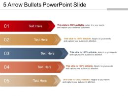 5 Arrow Bullets Powerpoint Slide