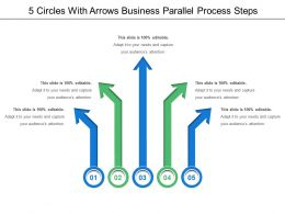 5 Arrows Business Parallel Process Steps