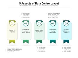 5 Aspects Of Data Centre Layout