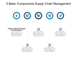 5 Basic Components Supply Chain Management Ppt Powerpoint Presentation Inspiration Cpb