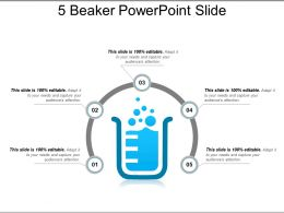 5 Beaker Powerpoint Slide