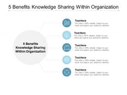 5 Benefits Knowledge Sharing Within Organization Ppt Powerpoint Presentation Styles Cpb
