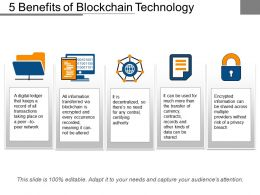 5 Benefits Of Blockchain Technology
