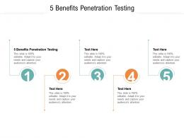 5 Benefits Penetration Testing Ppt Powerpoint Presentation Show Backgrounds Cpb