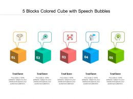 5 Blocks Colored Cube With Speech Bubbles
