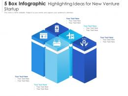 5 Box Infographic Highlighting Ideas For New Venture Startup