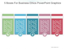 5 Boxes For Business Ethics Powerpoint Graphics