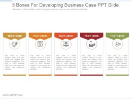 5 Boxes For Developing Business Case Ppt Slide