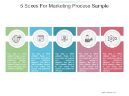 5 Boxes For Marketing Process Sample Ppt Presentation