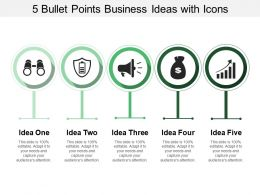 5 Bullet Points Business Ideas With Icons