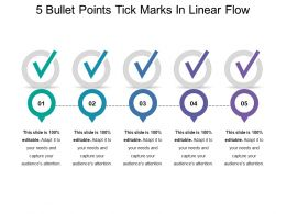 5 Bullet Points Tick Marks In Linear Flow