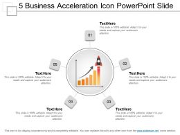 5 Business Acceleration Icon Powerpoint Slide