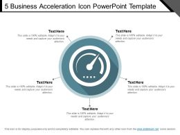 5 Business Acceleration Icon Powerpoint Template