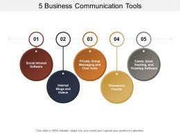 5 Business Communication Tools