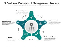 5 Business Features Of Management Process