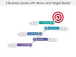 5 Business Goals With Arrow And Target Board