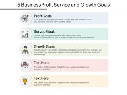 5 Business Profit Service And Growth Goals