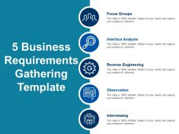 5 Business Requirements Gathering Template Powerpoint Guide
