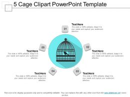 5 Cage Clipart Powerpoint Template