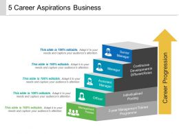 5 Career Aspirations Business Example Of Ppt